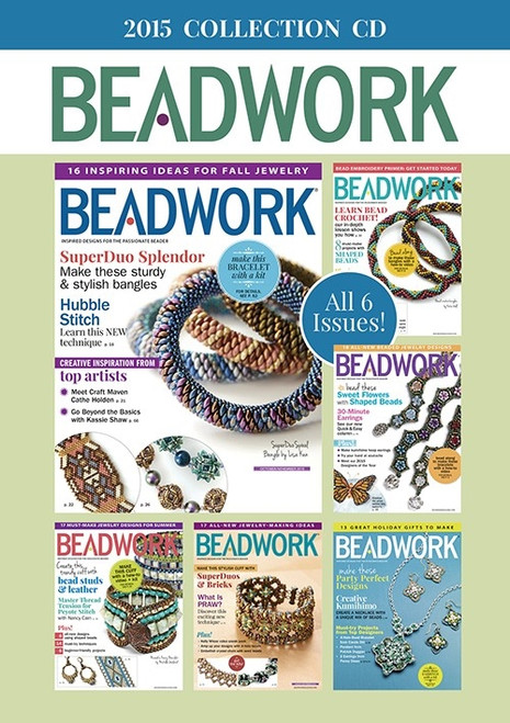 Beadwork Magazine 2015 Collection CD 6 Issues