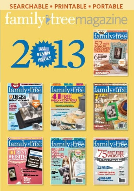 Family Tree Magazine 2013 Collection CD 7 Issues