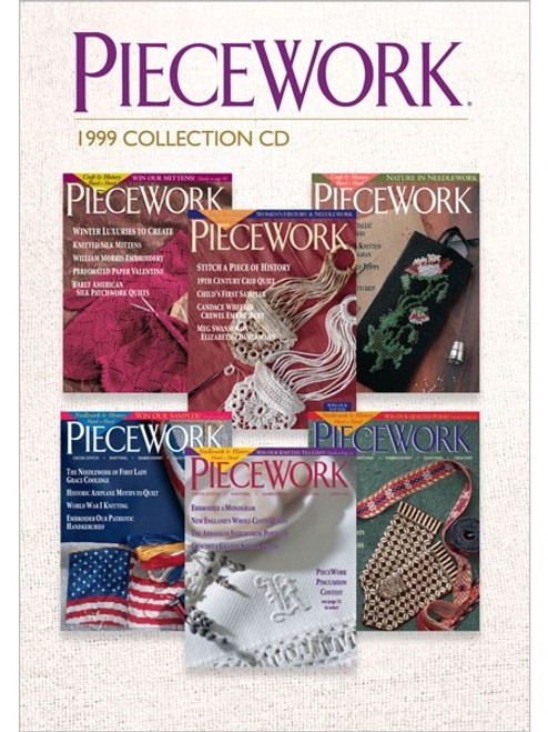 PieceWork Magazine 1999 Collection CD 6 Issues