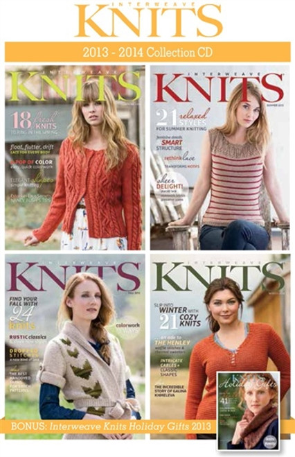 Interweave Knits Magazine 2013-2014 Collection CD 4 Issues