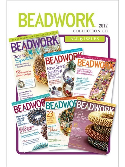 Beadwork Magazine 2012 Collection CD 6 Issues
