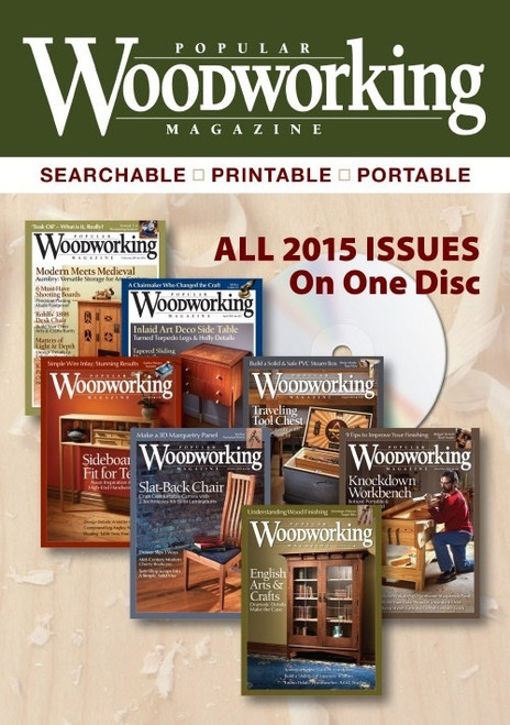 Popular Woodworking Magazine 2015 Annual CD 7 Issues