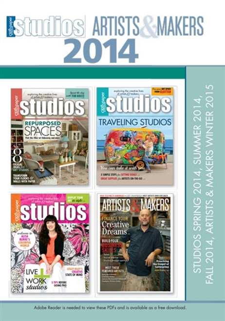 Studios and Artists & Makers Magazine 2014 Collection CD 4 Issues