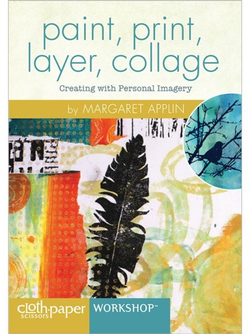paint, print, layer, collage with Margaret Applin DVD