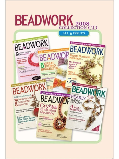 Beadwork Magazine 2008 Collection CD 6 Issues