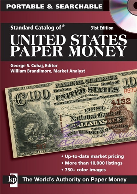 Standard Catalog of United States Paper Money by George S. Cuhaj CD 31st Edition