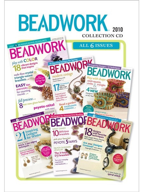 Beadwork Magazine 2010 Collection CD 6 Issues