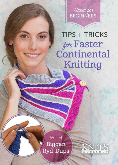 Tips and Tricks for Faster Continental Knitting with Biggan Ryd-Dups DVD