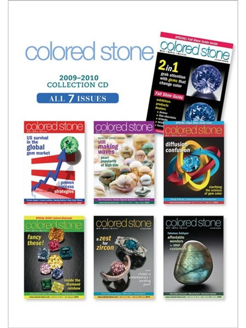 Colored Stone Magazine 2009-2010 Collection CD 7 Issues
