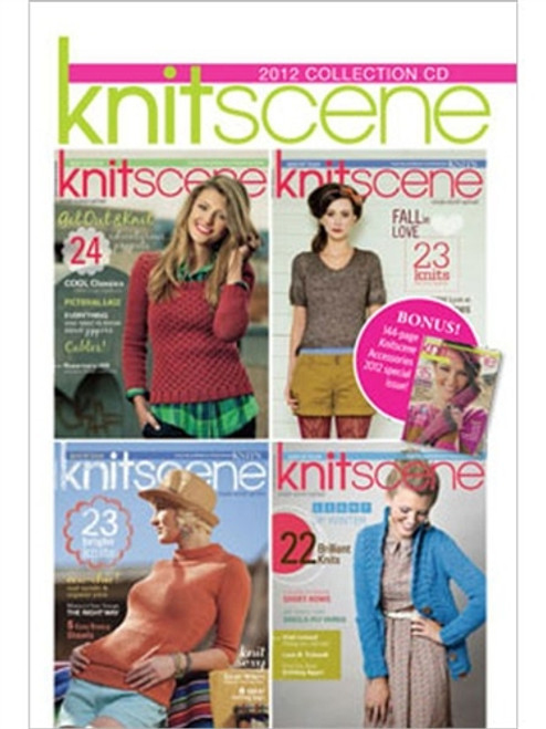 Knitscene Magazine 2012 Collection CD 4 Issues