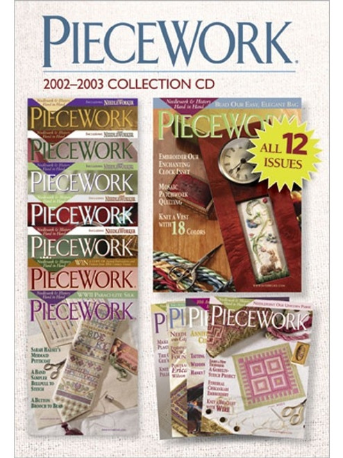 PieceWork Magazine 2002-2003 Collection CD 12 Issues