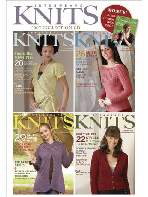 Interweave Knits Magazine 2007 Collection CD 4 Issues