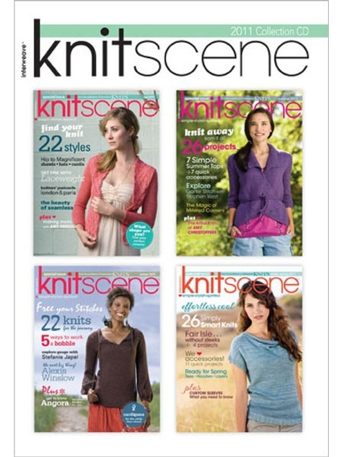 Knitscene Magazine 2011 Collection CD 4 Issues