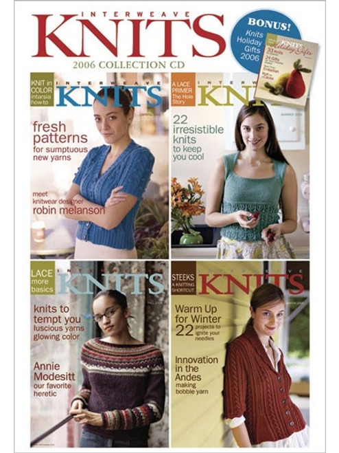 Interweave Knits Magazine 2006 Collection CD 4 Issues