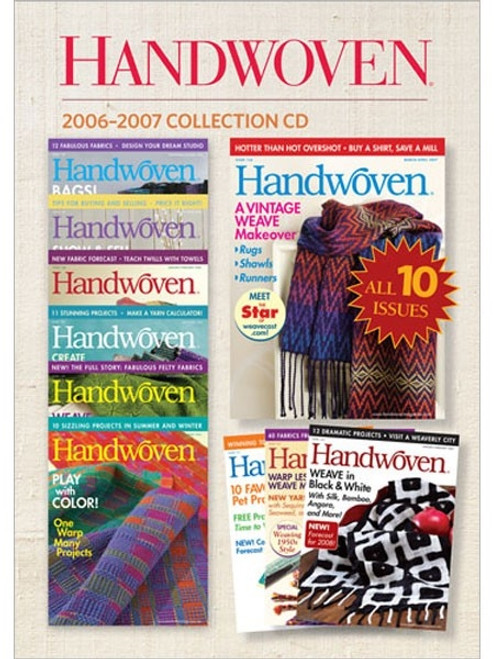Handwoven Magazine 2006-2007 Collection CD 10 Issues