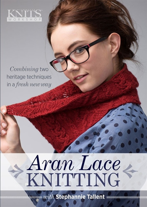 Aran Lace Knitting with Stephannie Tallent DVD - 9781620337622