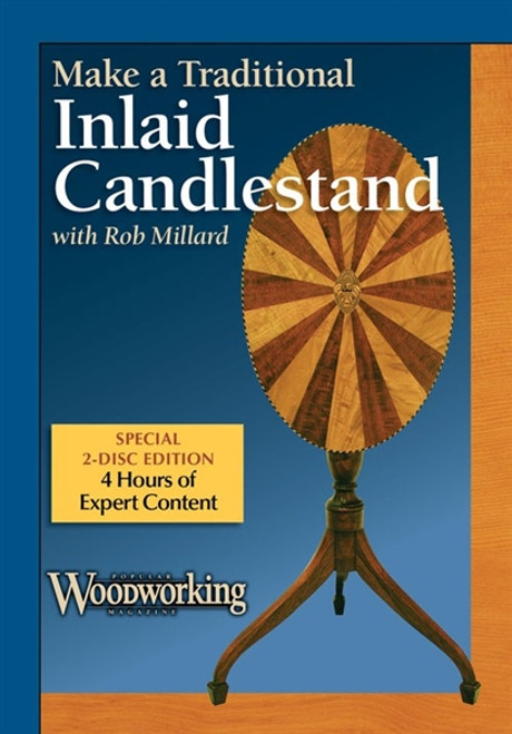Make a Traditional Inlaid Candlestand with Rob Millard DVD