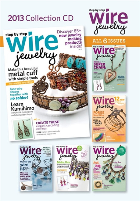 2013 Step by Step Wire Jewelry Magazine Collection {CD 6 Issues