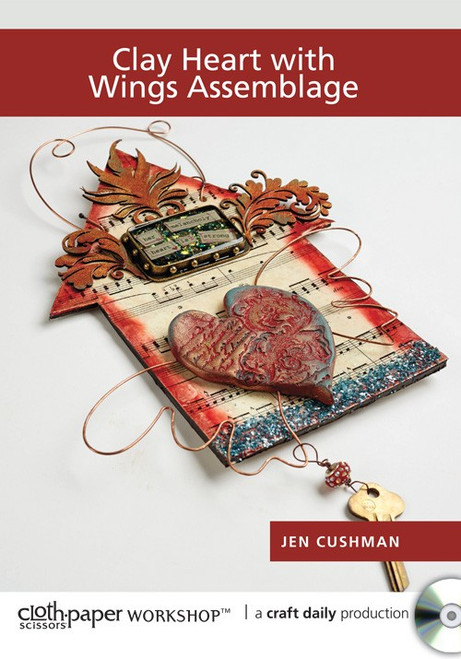 Clay Heart with Wings Assemblage with Jen Cushman DVD