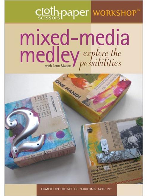 Cloth Paper Scissors Workshop - Mixed Media Medley with Jenn Mason DVD