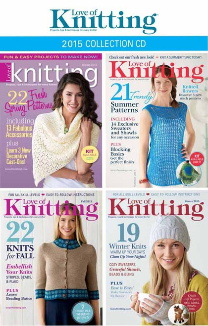 Love of Knitting 2015 Collection CD 4 Issues