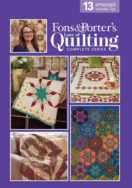 Fons & Porter's - Love of Quilting Complete Series 3000 13 Episodes - DVD (074962020130)