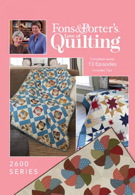 Fons & Porter's - Love of Quilting Complete Series 2600 13 Episodes - DVD (634077002966)