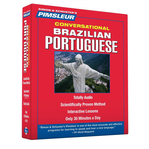 Pimsleur Brazilian Portuguese Conversational Course - Level 1 Lessons 1-16 8 CDs (9781442367906)