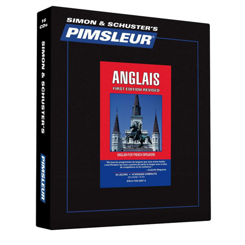 Pimsleur English for French Speakers 30 - 30 Minute Lessons Audio CD – Audiobook (9780743525275)
