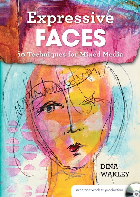 Expressive Faces - 10 Techniques for Mixed Media with Dina Wakley - DVD (9781440348549)