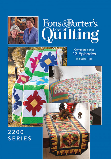 Fons & Porter's - Love of Quilting Complete Series 2200 13 Episodes - DVD (624077001809)