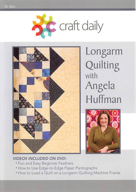 Longarm Quilting with Angela Huffman Vol. 1 - DVD (634077002805)