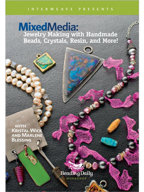 Mixed Media - Jewelry Making with Handmade Beads Crystals Resin and More - DVD (9781596685420)