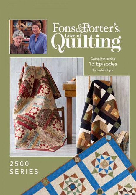 Fons & Porter's - Love of Quilting Complete Series 2500 13 Episodes - DVD (634077002959)