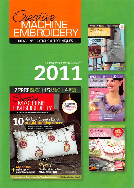Creative Machine Embroidery Magazine 2011 Collection - CD - 6 Issues