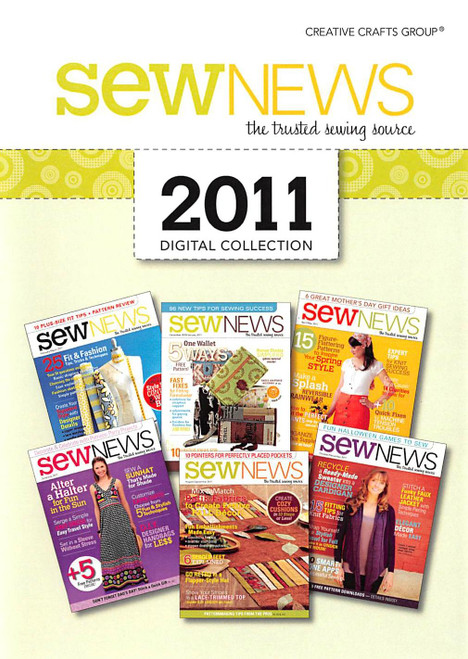 SewNews Magazine 2011 Collection CD - 6 issues Front