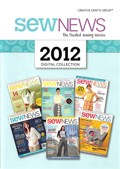 SewNews Magazine 2012 Collection CD - 6 Issues