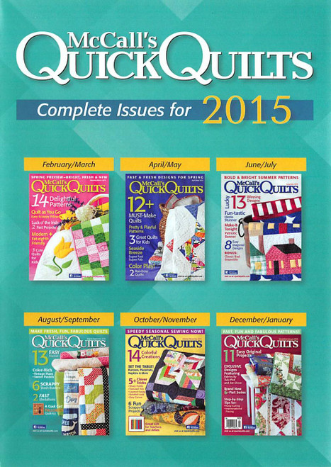 McCall's QuickQuilts Magazine 2015 Collection - CD 6 Issues