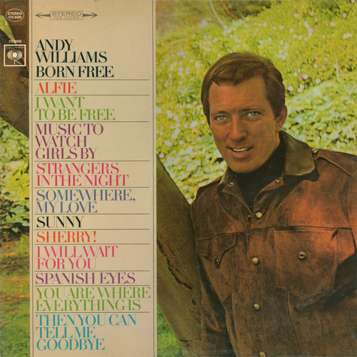 Andy Williams (Born Free) Vinyl LP Record Album Columbia CS-9480