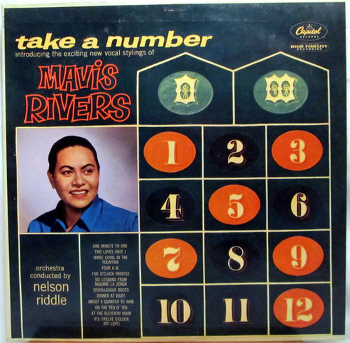 Mavis Rivers (Take A Number) Vinyl LP Record Album Capitol T-1210