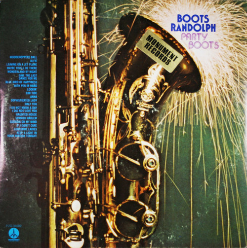 Boots Randolph ‎(Party Boots) Vinyl LP Record Album Monument PZG-34082