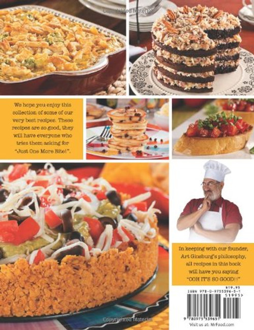 Mr. Food Test Kitchen Just One More Bite!: More Than 150 Mouthwatering Recipes You Simply Can't Resist - Paperback (9780975539651) Back
