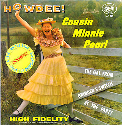 Minnie Pearl (Howdee!) Vinyl LP Record Album Starday SLP-224