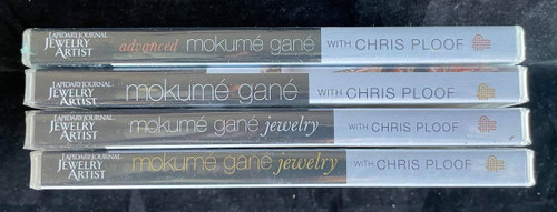Wholesale Lot - 4 New Mokume Gane DVDs by Chris Ploof - Lapidary Journal Jewelry Artist