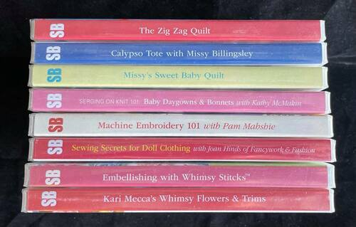 Wholesale Lot - 8 New Sew Beautiful DVDs, Kari Mecca, Connie Palmer, Missy Billingsley & More...