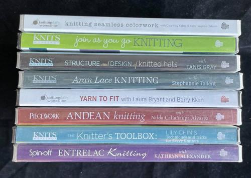 Wholesale Lot - 8 New Knitting DVDs - Lily Chin, Nilda Alvarez, Kathryn Alexander  & More