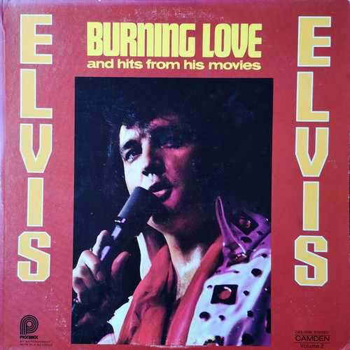 Elvis Presley (Burning Love And Hits From His Movies) Vinyl LP Record Album