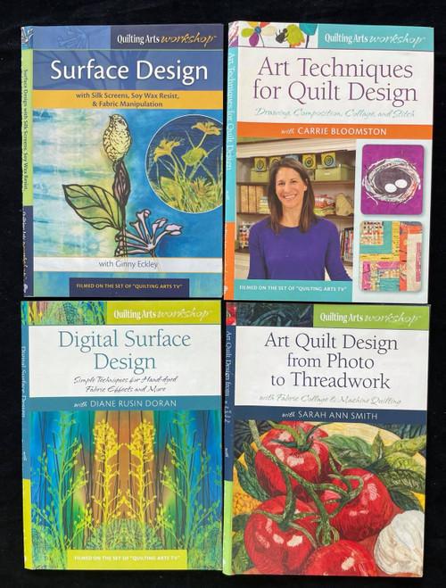 DVD Only Quilting Arts Workshop Bundle - Quilt & Surface Design , Art Techniques