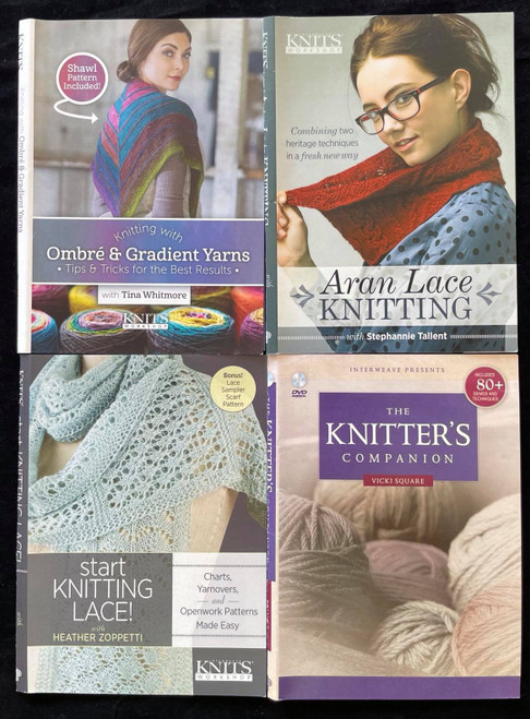 DVDs Only! Knitting Bundle - Start Knitting Lace, Ombre & Gradient Yarns & More
