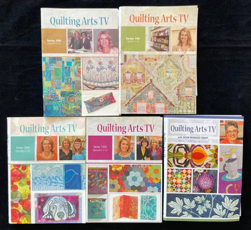 DVDs Only! Quilting Arts TV Bundle - Series 100,500,1200,1300 & 1400